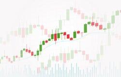 Wektorowy tło z rynek papierów wartościowych candlesticks mapą Rynki walutowi handluje kreatywnie projekt ilustracji