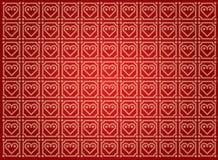 Wektorowy tło z serce wzorem Fotografia Stock