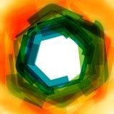 Wektorowy tło z zielenią i kolorem żółtym zamazującymi Obraz Stock