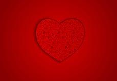 Wektorowy tło czerwieni serce Fotografia Royalty Free
