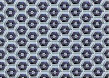 Wektorowy tło heksagonalny royalty ilustracja