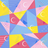 Wektorowy tło poligonalny wzór w Memphis stylu Fotografia Royalty Free