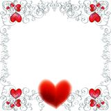 Wektorowy tło z czerwonymi sercami Obraz Royalty Free