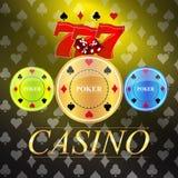 Wektorowy tło z kasynowymi hazardów elementami ilustracja wektor
