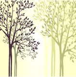 Wektorowy tło z wiosen drzewami Obraz Stock