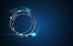 Wektorowy techniki kuli ziemskiej projekta tła innowaci sci fi hud pojęcie ilustracja wektor