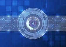 Wektorowy technologia cyfrowa interfejs, abstrakcjonistyczny tło Obrazy Royalty Free