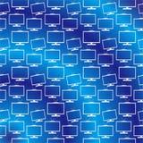Wektorowy telewizyjny monitoru tła wzoru błękit royalty ilustracja