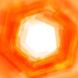 Wektorowy tło z pomarańcze zamazanym sześciokątem Zdjęcia Royalty Free