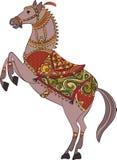 Wektorowy tradycyjny koński osłona projekt, logo/ royalty ilustracja