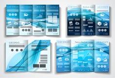 Wektorowy trifold broszurka szablonu projekt lub ulotka układ ilustracja wektor