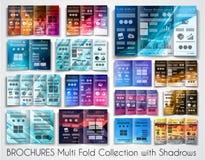 Wektorowy trifold broszurka szablonu projekt lub ulotka układ royalty ilustracja