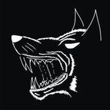 wektorowy uśmiechu wilkołak ilustracja wektor