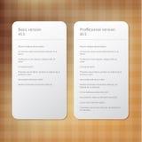 Wektorowy układ dla oferty - rozkazów znaki. Porównuje różną wersję Ilustracja Wektor