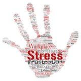 Wektorowy umysłowy stres przy miejsce pracy pracy naciska istotą ludzką ilustracja wektor