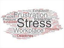 Wektorowy umysłowy stres przy miejscem pracy lub praca naciskiem ilustracji
