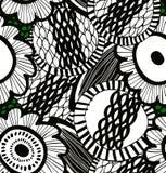 Wektorowy upaćkany bezszwowy dekoracyjny kwiecisty wzór Abstrakt rysujący tło Fotografia Royalty Free
