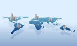 wektorowy urbanizacja świat royalty ilustracja