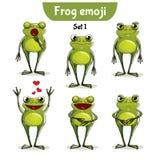 Wektorowy ustawiający śliczni żaba charaktery Set 1 Obraz Royalty Free
