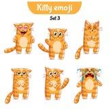 Wektorowy ustawiający śliczni kotów charaktery Set 3 Zdjęcia Royalty Free