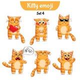 Wektorowy ustawiający śliczni kotów charaktery Set 4 Obraz Royalty Free