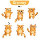 Wektorowy ustawiający śliczni kotów charaktery Set 5 Zdjęcia Royalty Free