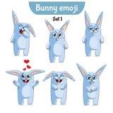 Wektorowy ustawiający śliczni królików charaktery Set 1 Obrazy Stock