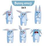 Wektorowy ustawiający śliczni królików charaktery Set 3 Zdjęcie Stock