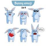 Wektorowy ustawiający śliczni królików charaktery Set 4 Zdjęcia Stock