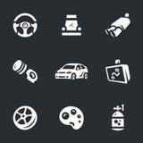 Wektorowy Ustawiający Auto strojeniowe ikony ilustracja wektor