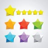 Wektorowy ustawiający barwione gwiazdy Fotografia Stock