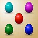 Wektorowy ustawiający barwioni Wschodni jajka Obraz Stock