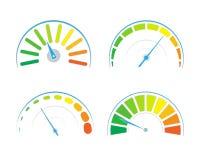 Wektorowy ustawiający barwioni wymierniki ilustracji