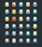 Wektorowy ustawiający colour smiley ikony ilustracja wektor