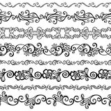 Wektorowy Ustawiający Dekoracyjny Kwiecisty ornament Obrazy Royalty Free