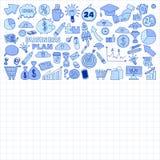 Wektorowy ustawiający doodle biznesu ikony Obraz Royalty Free