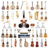 Wektorowy ustawiający instrumenty muzyczni na białym tle zdjęcie royalty free