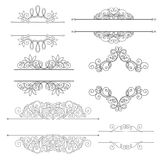 Wektorowy ustawiający kaligraficzni projektów elementy i stron dekoracje Zdjęcie Stock
