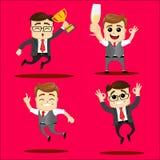 Wektorowy ustawiający kierownika lub biznesowego mężczyzna charakter Fotografia Stock
