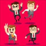 Wektorowy ustawiający kierownika lub biznesowego mężczyzna charakter Obraz Stock