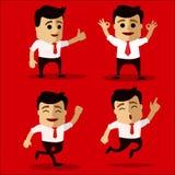Wektorowy ustawiający kierownika lub biznesowego mężczyzna charakter Zdjęcia Stock