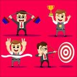 Wektorowy ustawiający kierownika lub biznesowego mężczyzna charakter Zdjęcie Stock