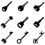 Wektorowy Ustawiający klucz ikony royalty ilustracja