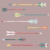 Wektorowy ustawiający kolorowe etniczne strzała Zdjęcie Stock