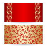 Wektorowy ustawiający kwiecisty dekoracyjny tło Obraz Royalty Free