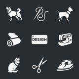 Wektorowy Ustawiający odzież dla zwierząt domowych ilustracja wektor