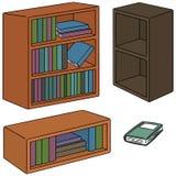 Wektorowy ustawiający półka na książki ilustracji