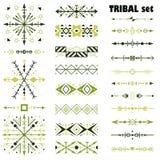 Wektorowy ustawiający projektów elementy w plemiennym stylu Muśnięcie set royalty ilustracja