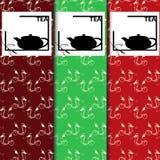 Wektorowy ustawiający projekt ikony w modnym liniowym stylu dla herbacianego pakunku i elementy - Chińska herbata ilustracji