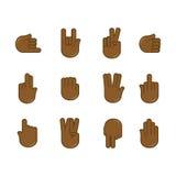 Wektorowy ustawiający ręka gestów ikony Szyldowy język royalty ilustracja